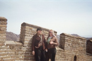 Tash & I at the Great Wall, China