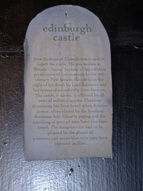Outlining some of the supernatural events that are thought to have taken place at Edinburgh Castle, Scotland