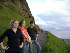 Tash, Elysha and Mike, on their way up the mountain