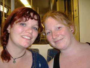 Tash and I, on our train trip