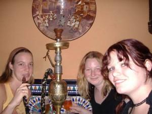 Katy, Tash & I trying hookah