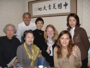 Me with 3 host families, at the local Chinese Family Restaurant