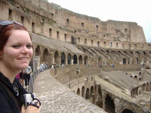 Tash hanging out in the Colosseum