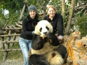 Chuck & I with Panda in Chengdu