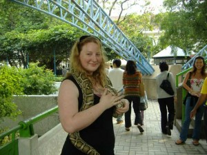 Me with a python