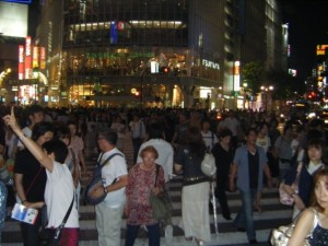 Crazy Shibuya at night