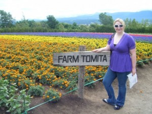 Me, at Farm Tomita in Nakafurano