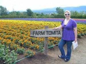 Me, at Farm Tomita in Nakafurano