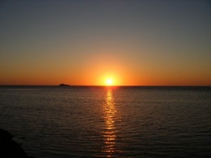Sunset over Cape Soya